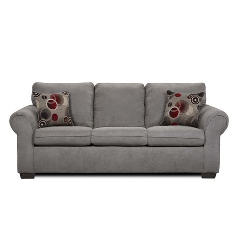 Simmons Sofa Sleeper by Simmons Suede Graphite Microfiber Size Sleeper Sofa