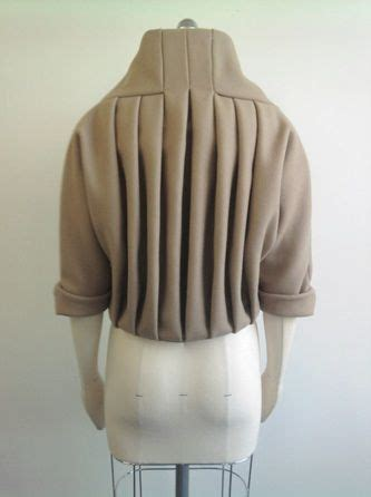 pattern manipulation pinterest pleated jacket back detail creative pattern cutting