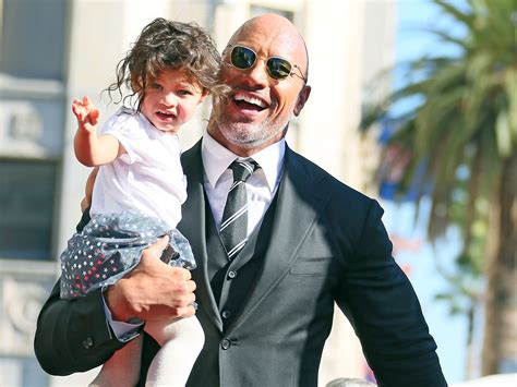 dwayne johnson the rock daughter the rock s 2 year old daughter jasmine rushed to the