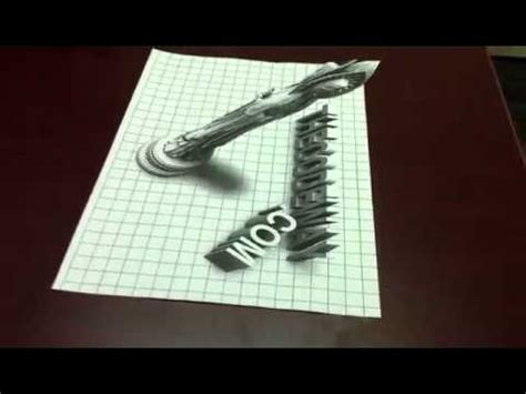 How To Make 3d On Paper - 3d on paper