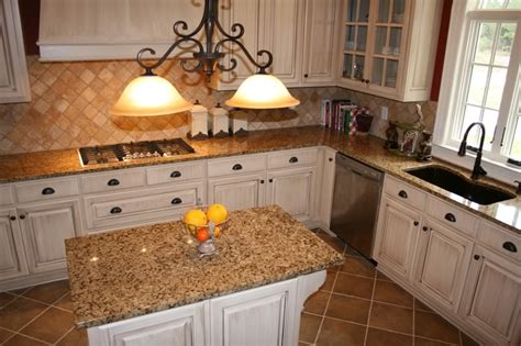 white cabinets with brown granite help with granite for