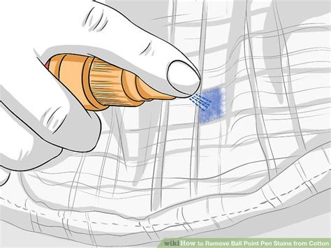 Remove Pen Ink From by 4 Simple Ways To Remove Point Pen Stains From Cotton