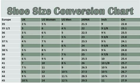 shoe size chart euro to uk european shoes size chart with american