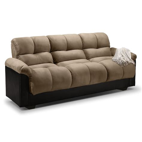 sofa bed couch crawford futon sofa bed with storage furniture com