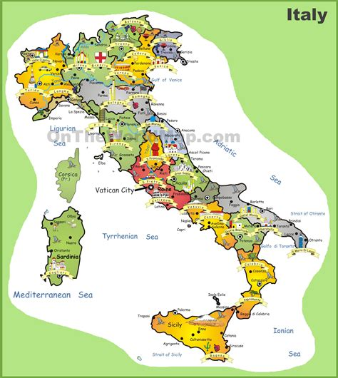 map of attractions maps update 25912899 tourist attractions map in italy