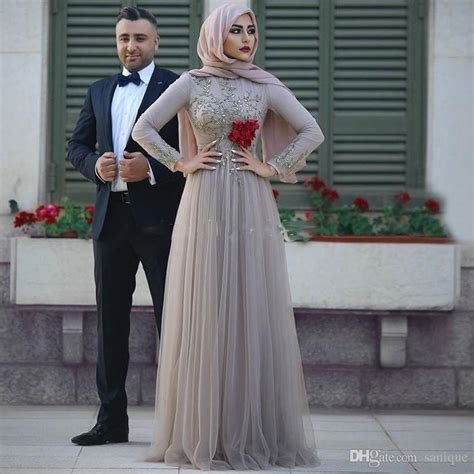 Baju Muslim Simply Byna Dress 2018 muslim evening dress lace prom gowns