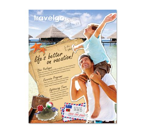 free templates for travel flyers travel agency flyer template dlayouts graphic design blog