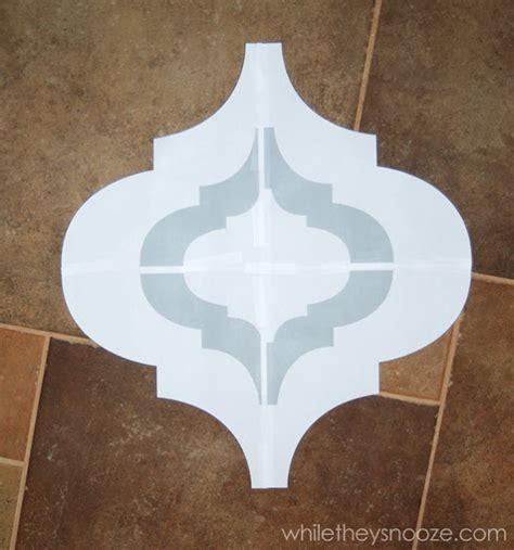 moroccan shapes templates antes de que se snooze diy marroqu 237 pared estilo de la plantilla tutorial stencil