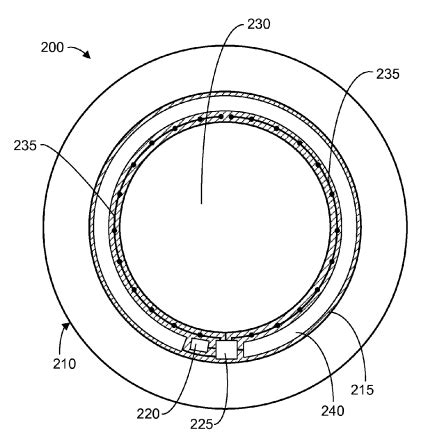 contact lens with capacitive gaze tracking (us20150362750