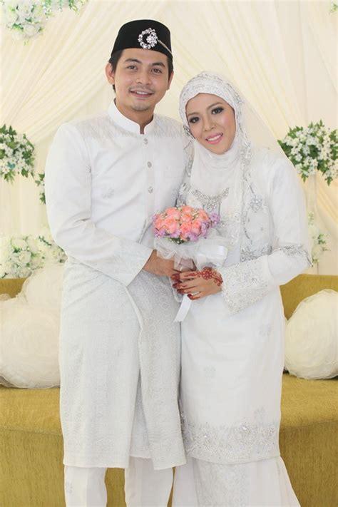 Baju Melayu Akad Nikah Lelaki gambar izzue islam awin nurin nikah sensasi selebriti