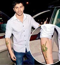 varun dhawan tattoo on his hand the bend easy to varun dhawan tattoo pictures