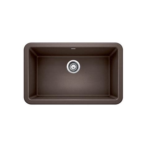Blanco Ikon Apron Front Granite Composite 29 In Single Brown Kitchen Sink