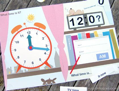 free printable clock games what time is it file folder game mr printables