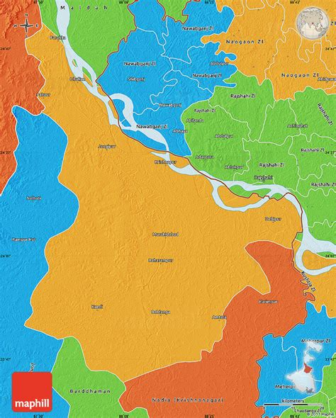 bengal india map political map of murshidabad
