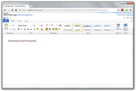 Microsoft Word Web Work With Skydrive And Microsoft Office