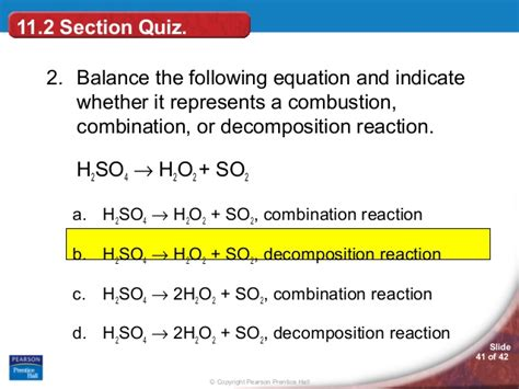 11 2 types of chemical reactions section review answers ch 11 sec 2 types of chemical reactions by hamdy karim