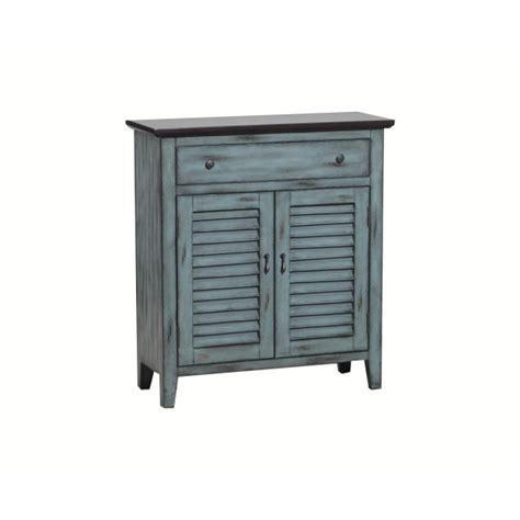 Linon Kitchen Island by Powell Two Tone Shutter 1 Drawer 2 Door Cabinet 14a2046