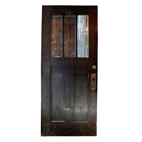 Gorgeous Antique 36 Salvaged Exterior Door With Beveled Salvaged Glass Doors