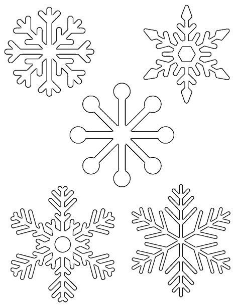snowflake pattern templates free printable snowflake templates large small stencil