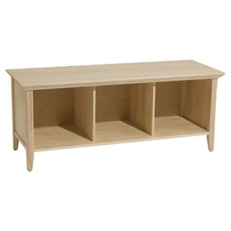Unfinished Wooden Storage Bench 537w westport storage bench unfinished solid wood cubbies seating entry way ebay