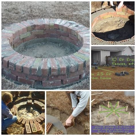how to make a brick fire pit in your backyard how to build a sturdy diy brick fire pit step by step