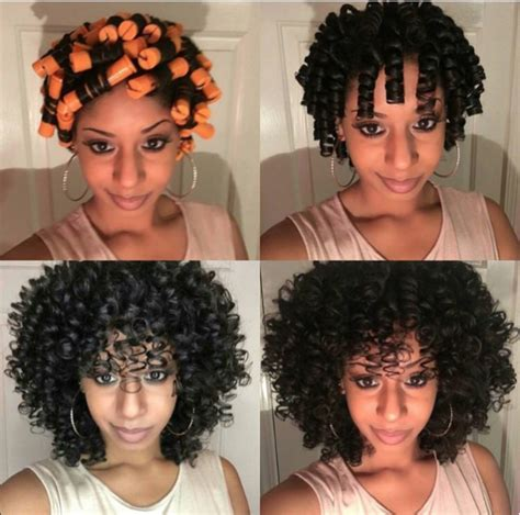 hairstyles for black short permed hair with curlers for teens gorgeous perm rod set thelovelygrace black hair