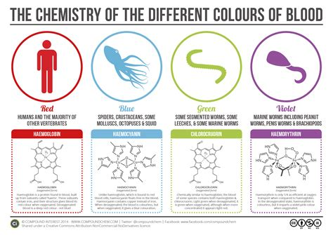 what color is your blood the chemistry of the colours of blood compound interest