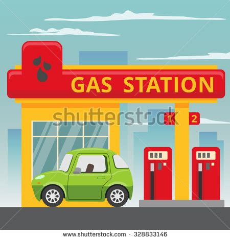 gas station clip art and stock illustrations 6900 gas petrol gas station concept in flat design style fuel and