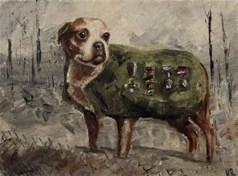 Sgt Stubby Most Decorated War And Pet Paintings Sergeant Stubby