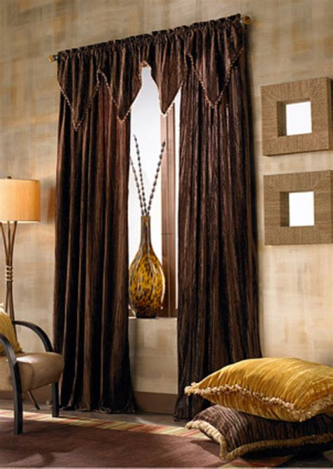 dark brown curtains living room living room traditional window treatment idea with dark