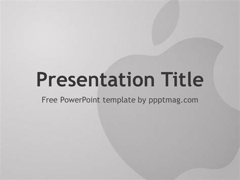 free apple powerpoint template pptmag