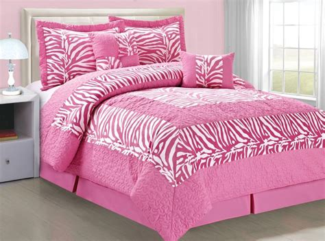 pink and white comforter bnf home 6 pc microfiber comforter set in a bag w zebra