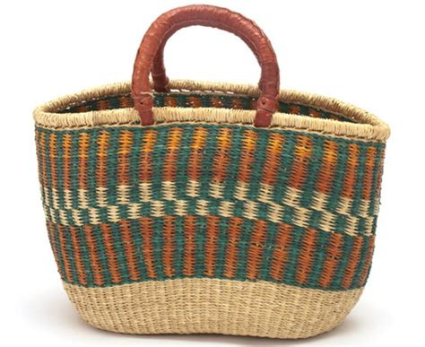 Fair Trade Home Decor hand woven basket afrofood
