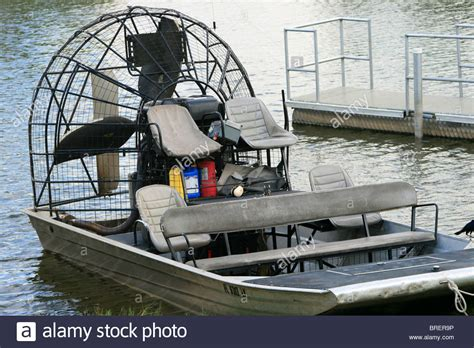 florida fan boat airboat or fanboat very common in florida america stock