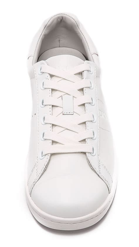 dkny clay tennis sneakers in white lyst