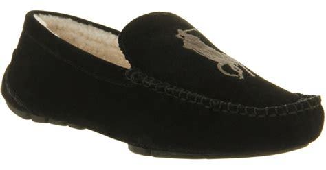 ralph mens house slippers lyst ralph paulson ii slipper black suede