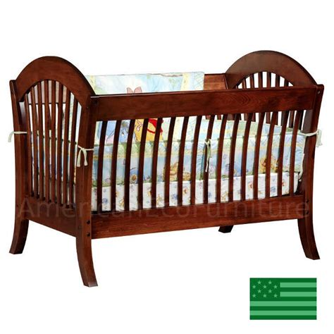 Baby Cribs Made In Usa by Pacifica 4 In 1 Convertible Baby Crib Solid Wood Made In