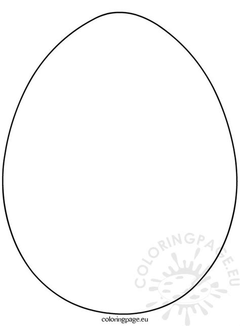coloring page large easter egg large easter eggs template coloring page
