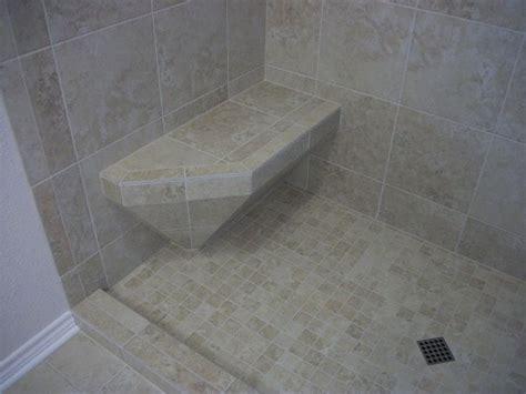tile seat in shower tile shower with accent n koehn el co tx