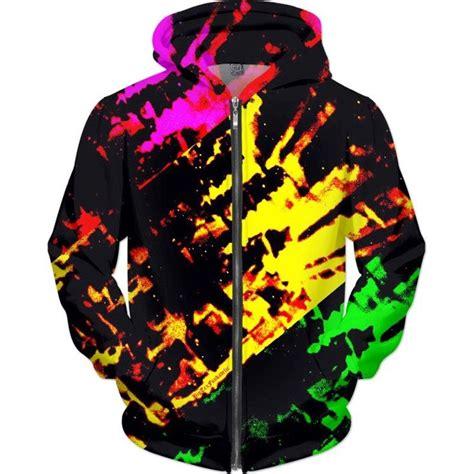 bigtexfunkadelic tricolor grunge zebra hoodie hoodies
