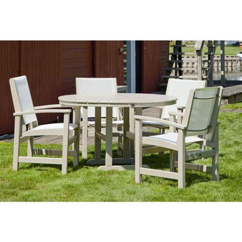 Polywood Outdoor Dining Set.Brilliant Aluminum Outdoor