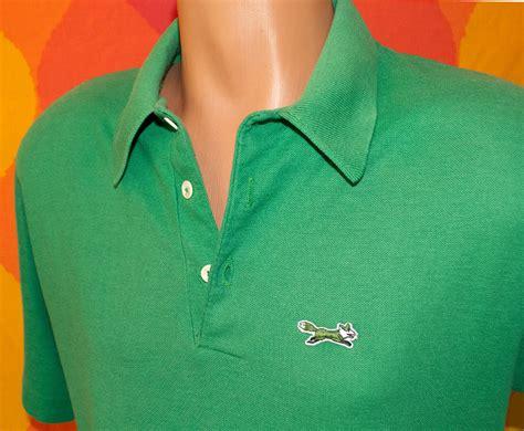 Polo Shirt Fox Logo vintage 70s golf shirt the fox polo tennis jc penney large