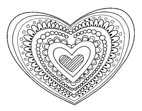 coloring page heart mandala color online coloringcrew