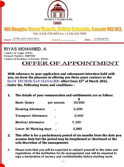 appointment letter format for government the 25 best official letter format ideas on