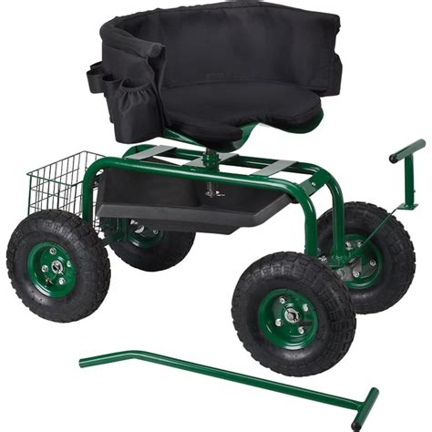 garden cart with seat home depot garden cart rolling work seat with heavy duty tool tray