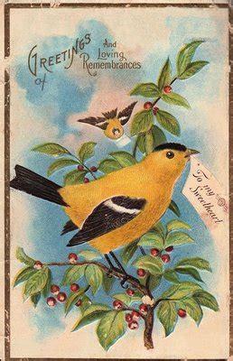 vintage clip art pretty yellow bird  graphics fairy