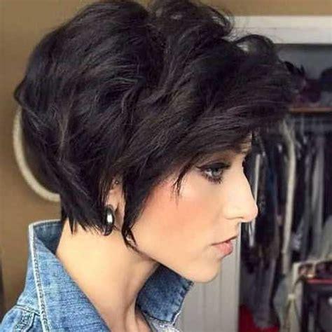 flattering layered short haircuts  thick hair crazyforus