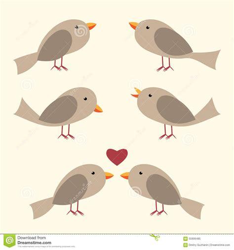 Lcute Set 3in1 Pigeons vector birds set stock vector image 55906485