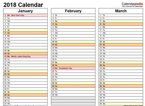 Calendar 2018 Calendarpedia 10 Free Sle Printable Calendar Templates For 2018
