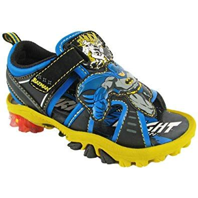 Sandal Dc Comics Blue Batman batman boys black lighted sandals bms601 8 m